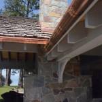 15 Lakefront cottage stone chimney
