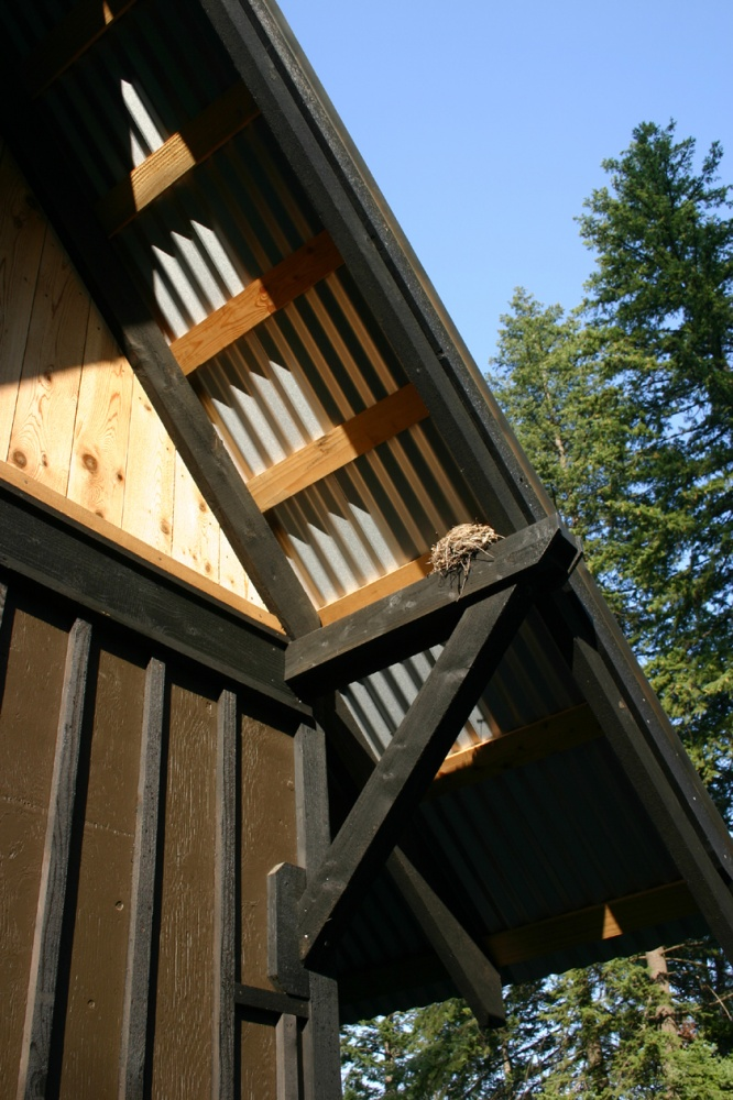 Remote lake pend oreille cabin straight line building design for Remote cabin plans
