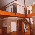 9 wire railings and glulam beams