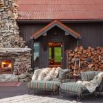 Exterior Fireplace - bunkhouse TR